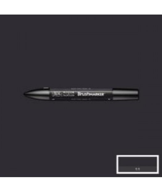 ac rotulador w&n brush marker xb-black