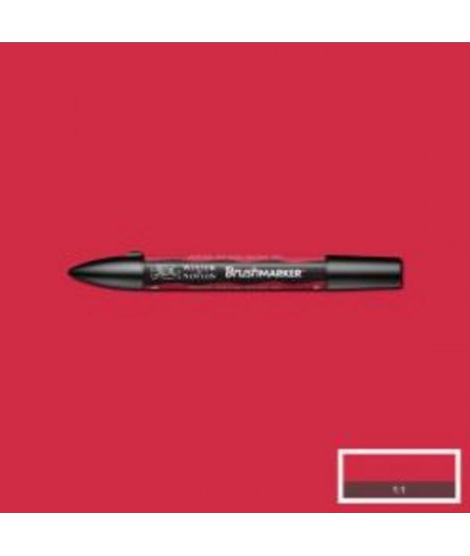 ac rotulador w&n brush marker r665-berry red