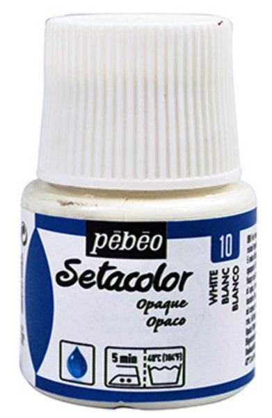 pebeo setacolor opaco 45ml. o-10 blanco