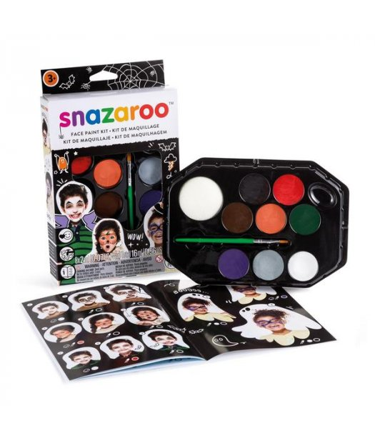 kit snazaroo 1180118 maquillaje 8x20ml.+pincel