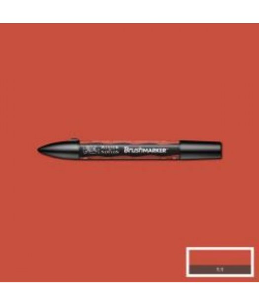 ac rotulador w&n brush marker r946-burnt orange